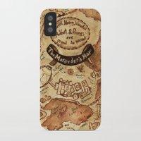 marauders iPhone & iPod Cases featuring Marauders Map by Dasha Borisenko