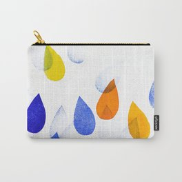 colorful raindrops Carry-All Pouch