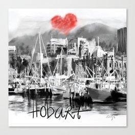 I love Hobart Canvas Print