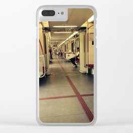 Riding the Toronto Train Clear iPhone Case