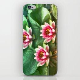 Waterlilies delicate iPhone Skin