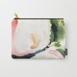 Abstract Watercolor Peonies Print Carry-All Pouch