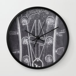 Gibson's headstock Wall Clock