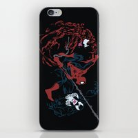 carnage iPhone & iPod Skins featuring Spider-man - Carnage VS Spidey VS Venom by TracingHorses