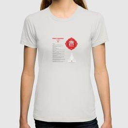 Root Chakra - Muladhara Art & Chart T-shirt