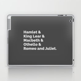 The Shakespeare Plays I Laptop & iPad Skin