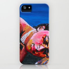 resting on black sand in hawaii iPhone Case
