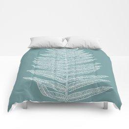 Modern Minimalist Botanical Comforters