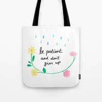 motivational Tote Bags featuring Motivational thoughts by Saskdraws