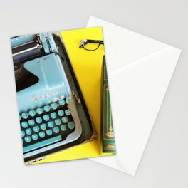 Typewriter and Vintage Books Stationery Cards