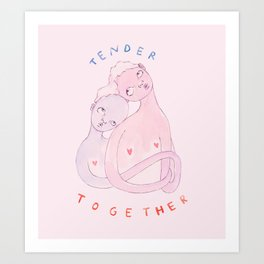 Tender Together Art Print
