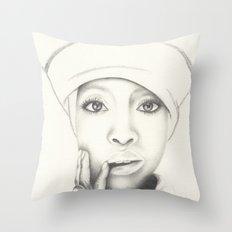 Badu Throw Pillow