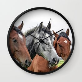 Wonderful Horses Wall Clock