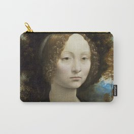 Leonardo da Vinci Ginevra de' Benci 1474 -1478 Painting Carry-All Pouch