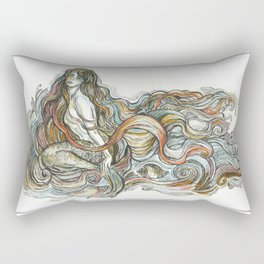 """Little Mermaid"" - by Fanitsa Petrou Rectangular Pillow"