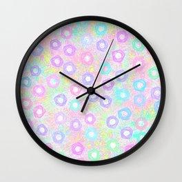 Pretty Pastel Pentagons Wall Clock