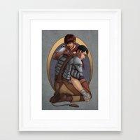 berserk Framed Art Prints featuring Berserk - Casca & Guts by daftmue