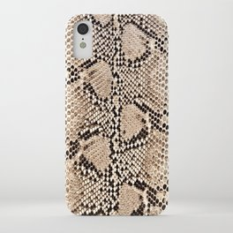 Snake skin art print iPhone Case