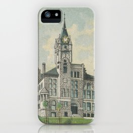 Court House of Montana in Helena, from the General Government and State Capitol Buildings series (N1 iPhone Case