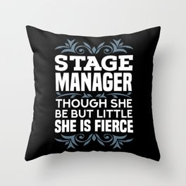 Stage Manager Gifts Throw Pillow