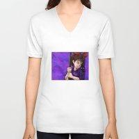 kiki V-neck T-shirts featuring Kiki and Jiji by Kimberly Castello