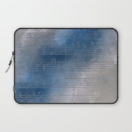 Silver music Laptop Sleeve