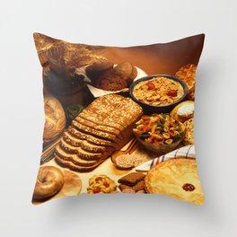 Wheat Foods Throw Pillow