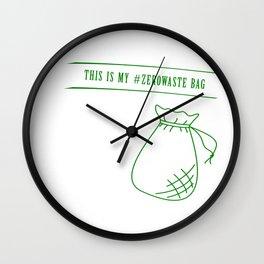 Zero Waste bag Wall Clock