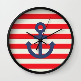 Anchor - Nautical Wall Clock