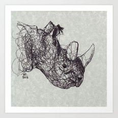 Reginald Rhinoceros Art Print