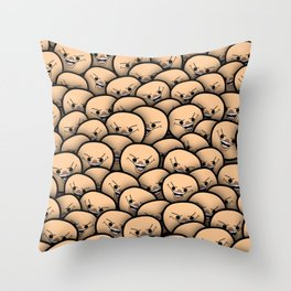 Cyanide meme crowd Throw Pillow