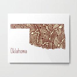 Oklahoma State Metal Print