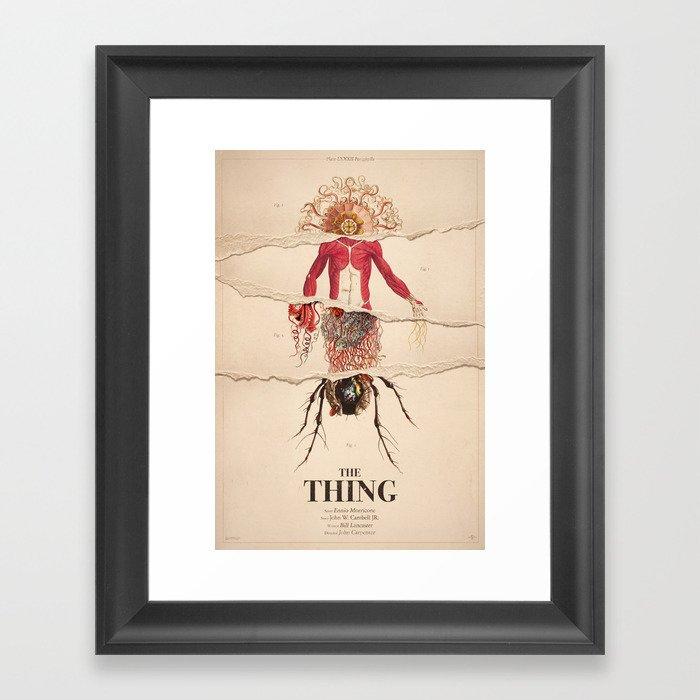 The Thing Alternative Film Poster Framed Art Print by dgrahamdesign ...
