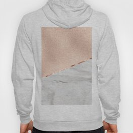 St Tropez rose gold marble Hoody