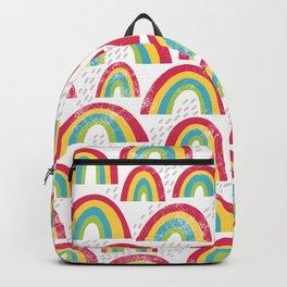 Rainbow showers - white Backpack
