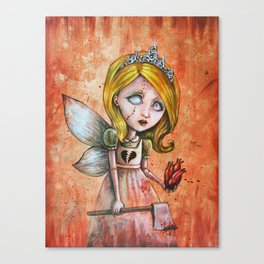 Love Hurts Dark Valentines Undead Fairy Princess Canvas Print