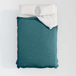 Best Seller Sherwin Williams Trending Colors of 2019 Oceanside (Dark Aqua Blue) SW 6496 Solid Color Comforters