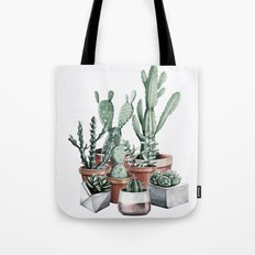 Potted Cacti + Succulents Rose Gold Tote Bag
