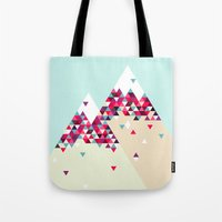 twin peaks Tote Bags featuring Twin Peaks by Attitude Creative
