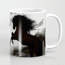 Battle of the Horses - Equine Art Coffee Mug