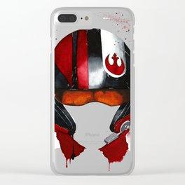 Poe Dameron Rebel Pilot Xwing Wars Watercolor Clear iPhone Case