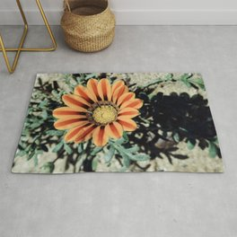 Flower in Recreation Area  Rug