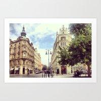 prague Art Prints featuring Prague by Janneke Niezen