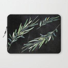 Eucalyptus leaves on chalkboard Laptop Sleeve