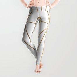 Gold Geometric Pattern Illustration Leggings