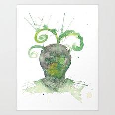 Terranean Alien Art Print