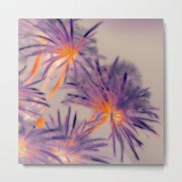 Purple Fairy Flowers Metal Print