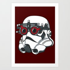 Stormtrooper Eyetest Art Print