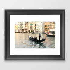 Patricians on water Framed Art Print