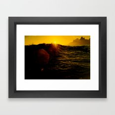#021 Sunset rj Framed Art Print